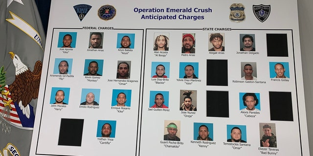 Thirty-two individuals were arrested in a takedown in Lawrence, Mass., targeting the violent Trinitarios street gang from New York City,
