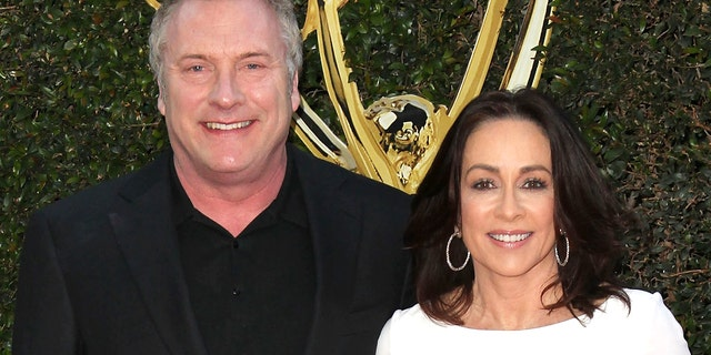 David Hunt, left, and Patricia Heaton, right, at the 2016 Daytime Creative Arts Emmy Awards in Los Angeles.