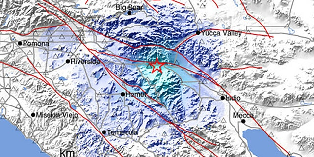 A 3.5 magnitude earthquake shook southern California early Sunday, the USGS said.
