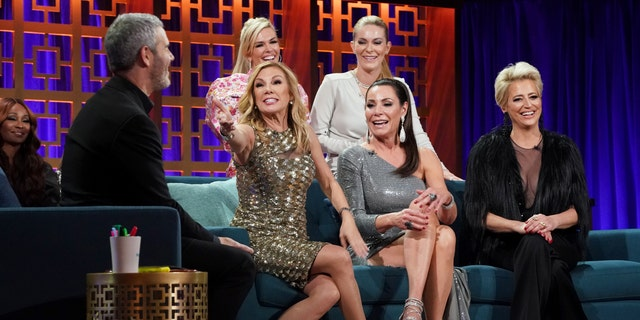 WATCH WHAT HAPPENS LIVE WITH ANDY COHEN -- Pictured: (l-r) Ramona Singer, Tinsley Mortimer, Leah McSweeney, Luann de Lesseps, Dorinda Medley