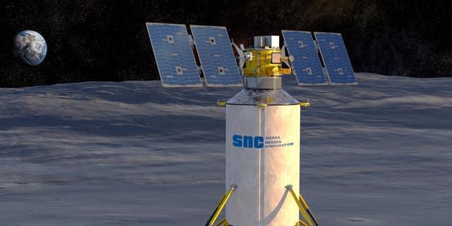 Illustration of Sierra Nevada Corporation's concept for a commercial lunar lander.