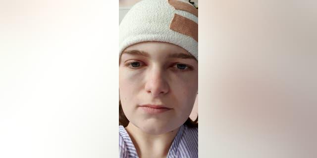 Steph Blake following surgery. (SWNS)