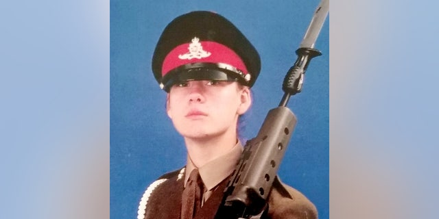 Emma Kitson when in the armed forces.