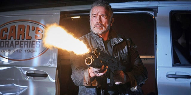 This image released by Paramount Pictures shows Arnold Schwarzenegger in 'Terminator: Dark Fate.'