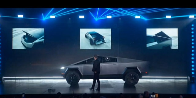 The Tesla Cybertruck is all-electric and scheduled to go on sale in late 2021.