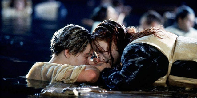 Leonardo DiCaprio as Jack and Kate Winlset as Rose in 'Titanic'