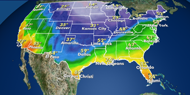 On Monday, high temperatures are scheduled to stay in the teens and 20s in the Midwest and Great Lakes