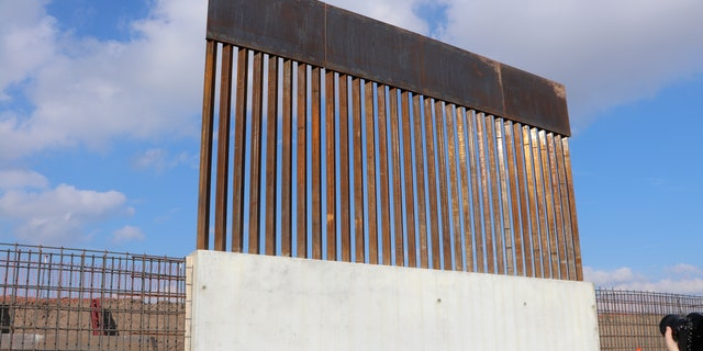 New border wall construction in Texas. (Adam Shaw/Fox News)
