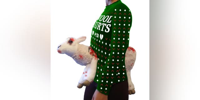 """The controversial animal rights organization calls the look """"a show-stopping, conversation-starting"""" feature that goes """"where no sweater has gone before."""""""