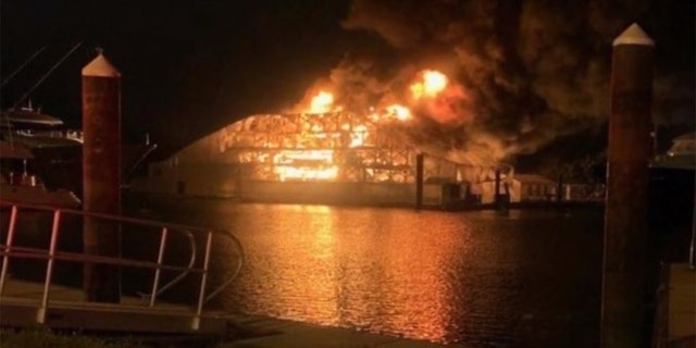 Two luxury yachts worth $24 million were destroyed in a fire at Fort Lauderdale marina early Saturday.