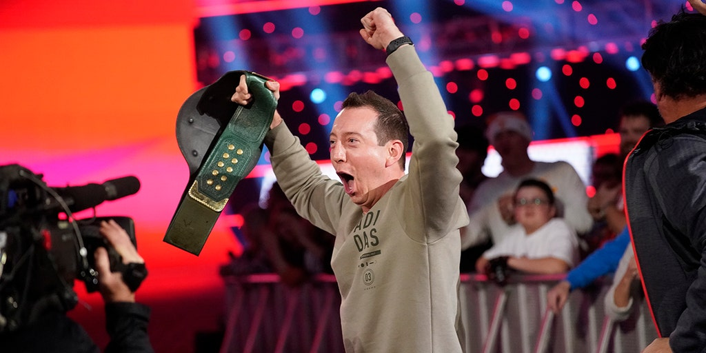 NASCAR champion Kyle Busch steals WWE 24/7 title from R-Truth with bodyslam