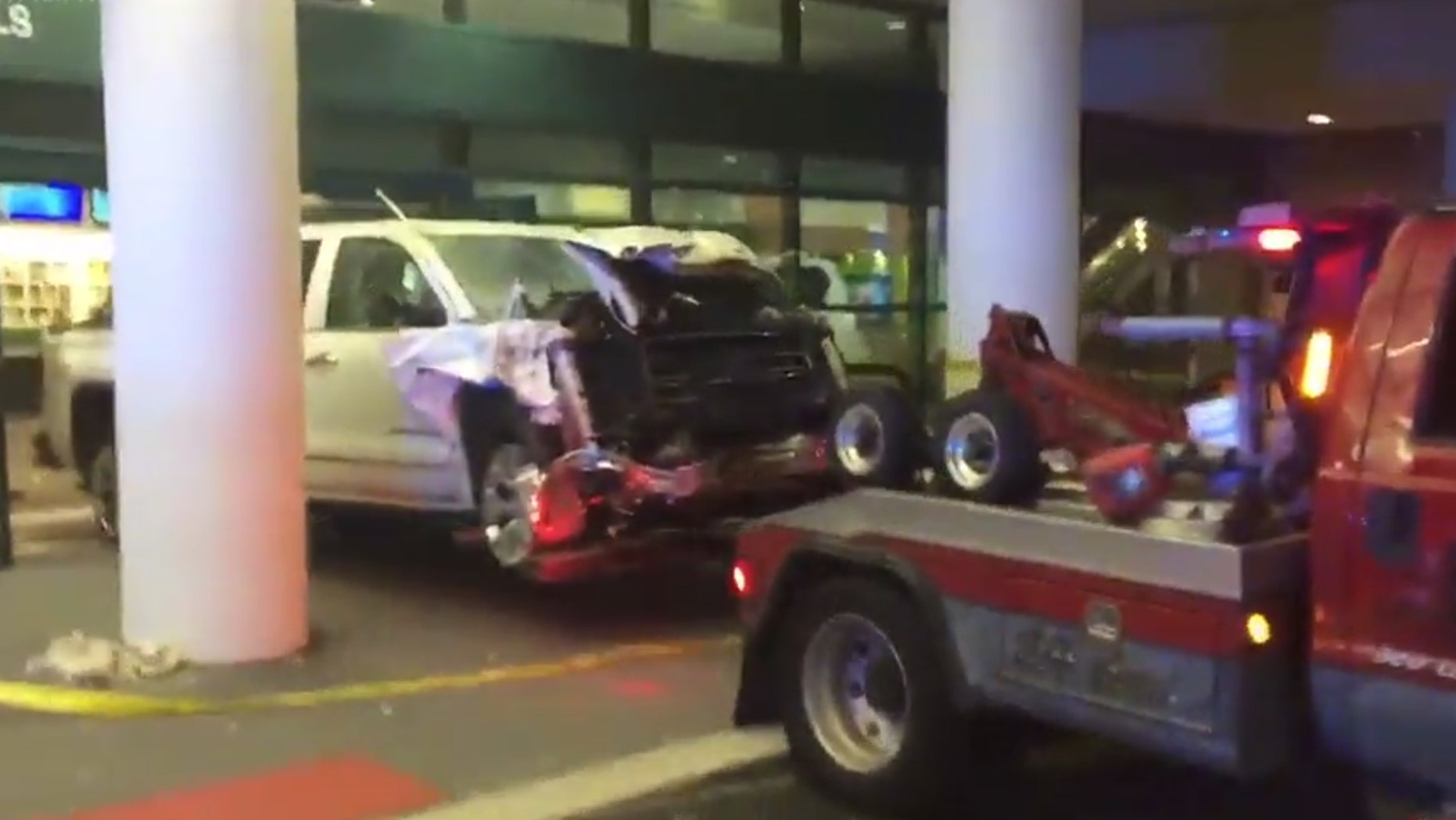 The airport president has since said the airport will be operational in time for any scheduled flights, minus a single baggage belt that the truck damaged during the crash. (Van Williams via WTVT)