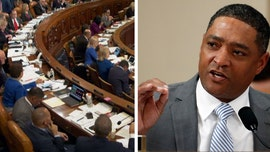 Dem Congressman Cedric Richmond appears to be watching golf on laptop during impeachment debate
