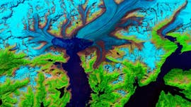 Alaskan glacier seen shrinking over time in incredible new images