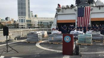Coast Guard offloads $312M worth of cocaine seized at sea