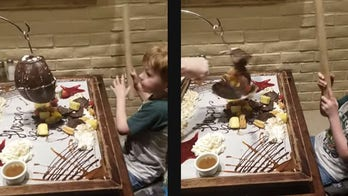 Dad punches 6-year-old son's birthday pi帽ata in viral video