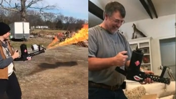 Tennessee woman buys 'pyromaniac' dad a flamethrower for Christmas