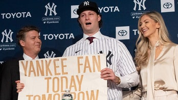 Gerrit Cole trolled on social media for bringing sign to Yankees press conference