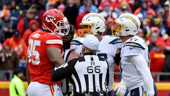 Los Angeles Chargers' Philip Rivers gets into squabble with Kansas City Chiefs' Chris Jones
