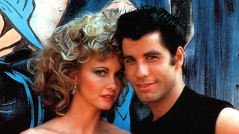 Olivia Newton-John and John Travolta dress up as their iconic 'Grease' characters 41 years later