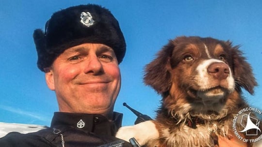 Wisconsin trooper uses drone to reunite missing dog with owner after crash