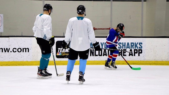 San Jose Sharks take celebration lessons from young 'shootout star' following viral 'moonwalk celly'