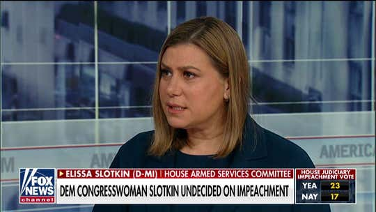 Michigan Democrat in swing district still undecided on whether to support articles of impeachment