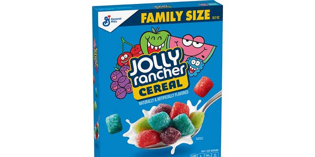 Jolly Rancher Cereal is just one of two candy-themed General Mills offerings to debut this month.