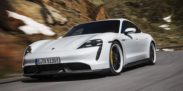 Westlake Legal Group 16189af1-tay4 Electric Porsche Taycan Turbo hit with disappointing 201-mile range rating Gary Gastelu fox-news/auto/make/porsche fox-news/auto/attributes/electric fox news fnc/auto fnc article 0863aec5-73a5-5039-973b-77b72da5fe43