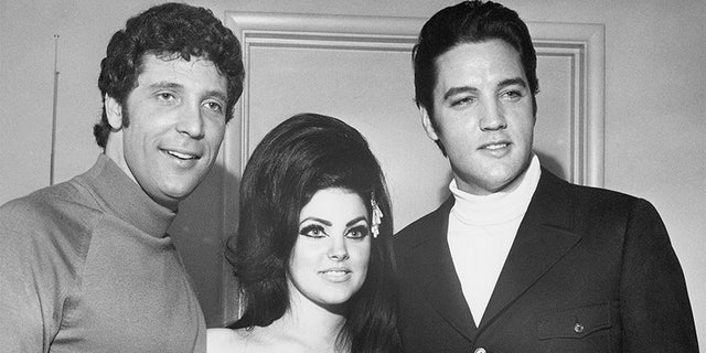 Westlake Legal Group 20_Elvis-Priscilla-and-Tom-Jones Liberace told Elvis Presley he needed 'more glitz' in his shows before Las Vegas transformation, book claims Stephanie Nolasco fox-news/entertainment/style fox-news/entertainment/music fox-news/entertainment/genres/classics fox-news/entertainment/genres/books fox-news/entertainment/features/exclusive fox-news/entertainment fox news fnc/entertainment fnc article a1100f12-1f5d-5801-af21-bd7a340fd289
