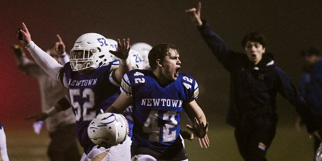 Westlake Legal Group AP-Newtown-Anniversary Newtown wins state football championship 7 years to the day after Sandy Hook New York Post fox-news/us/us-regions/northeast/connecticut fox-news/us/crime/mass-murder fox-news/sports fnc/us fnc article a51030f4-e7d2-568d-8f1a-408da3592e65