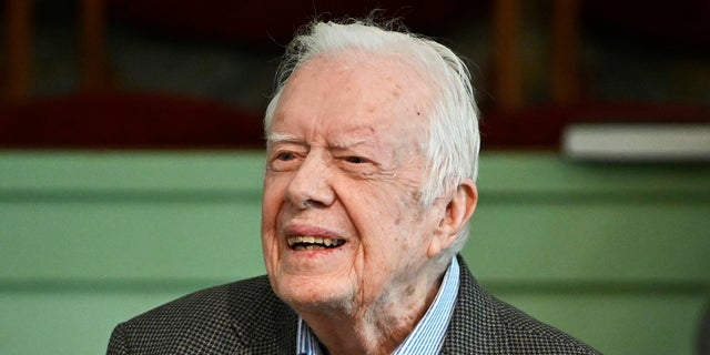 Former President Jimmy Carter teaches Sunday school at Maranatha Baptist Church in Plains, Ga last month. (AP Photo/John Amis, File)