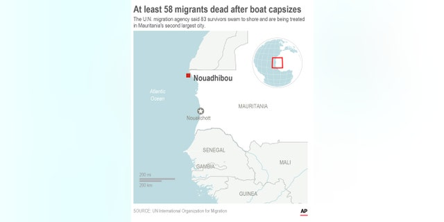 Westlake Legal Group AP19339065774132-1 Boat carrying migrants capsizes off Mauritania coast, at least 58 drown fox-news/world/world-regions/europe fox-news/world/world-regions/africa fnc/world fnc Associated Press article 1df37499-efc8-5067-9229-47c3180bab37