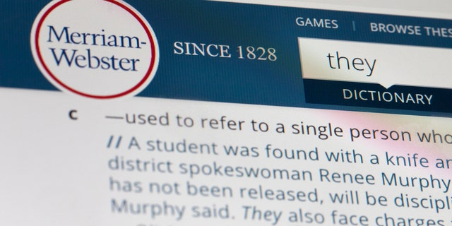 Merriam-Webster dictionary names 'They' word of the year