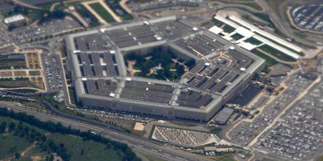 FILE: The Pentagon is seen from air from Air Force One.