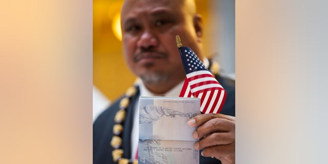 In this undated file image provided by nonprofit advocacy and legal group Equally American, John Fitisemanu, an American Samoan and the lead plaintiff in a lawsuit against the United States seeking full U.S. citizenship. People born in the territory of American Samoa should be recognized as U.S. citizens, a federal judge in Utah decided Thursday in a case filed amid more than a century of legal limbo but whose eventual impact remains to be seen. (Katrina Keil Youd/Equally American via AP)