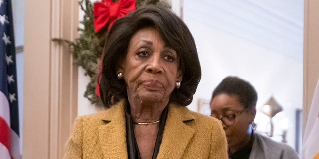 U.S. Rep. Maxine Waters, D-Calif., is seen at the Capitol in Washington, Dec. 18, 2019. (Associated Press)
