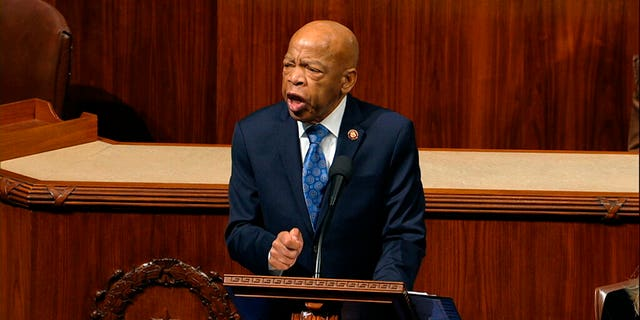 Rep. John Lewis, D-Ga., seen here earlier this month, announced he was diagnosed with stage 4 pancreatic cancer. (House Television via AP)