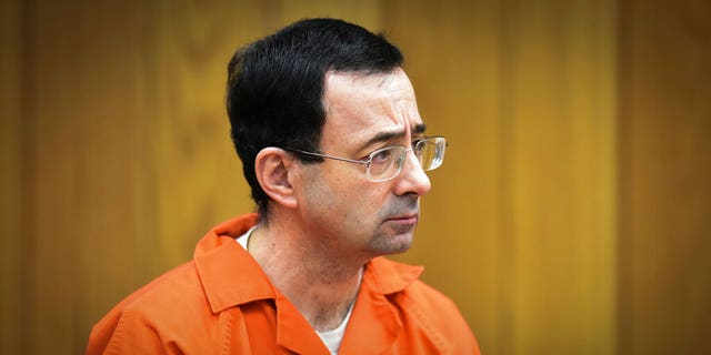 Larry Nassar, former sports doctor who admitted to molesting some of the nation's top gymnasts, appeared in Eaton County Court in Charlotte, Mich.