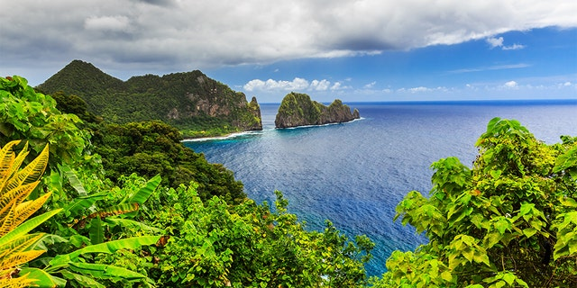 Camel Rock near the village of Lauli'i in Pago Pago, American Samoa. A federal judge in Utah ruled Thursday that people born in American Samoa should be granted birthright citizenship.