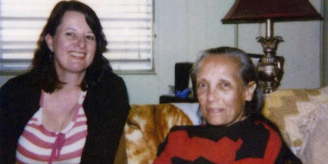 Sarah Broughton with Anna Kashfi.