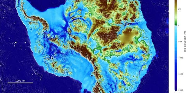 Scientists have released an in-depth topography map of Antarctica.