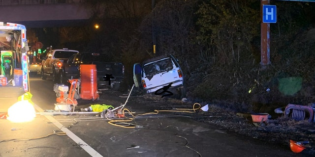 A entire road crew was injured after they were struck by a suspected drunk driver on Interstate 66 in Virginia early Thursday.