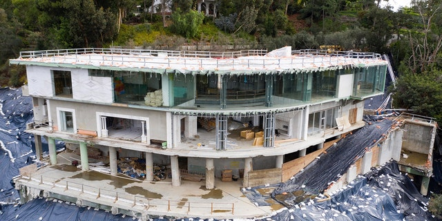"""An aerial view of Mohamed Hadid's mega-mansion, dubbed """"Starship Enterprise."""""""