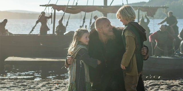 """Alexander Ludwig (center) told Fox News it's a bittersweet experience saying goodbye to """"Vikings."""""""