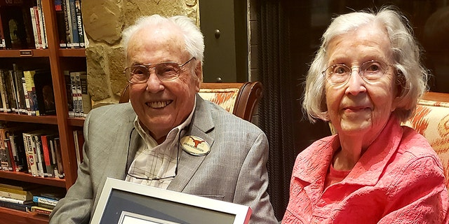 Texas pair John Henderson, 106, and Charlotte Curtis, 105, celebrated their latestwedding anniversary Dec. 15.