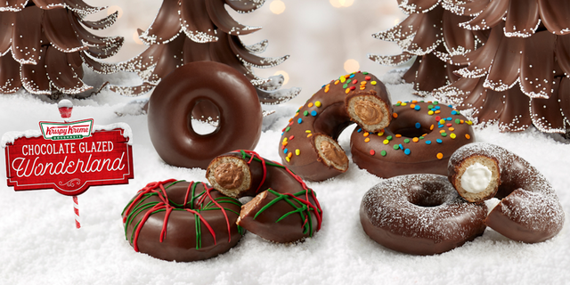 The chain's Chocolate Glazed Wonderland Collection will be available to three days starting Friday, Dec. 6.