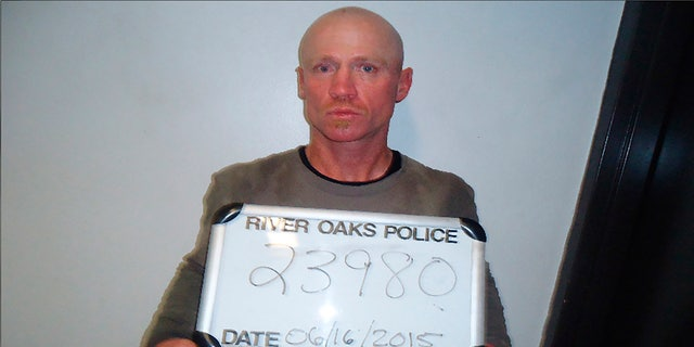 This June 16, 2015, photo provided by the River Oaks Police Department, in Texas, shows Keith Thomas Kinnunen.