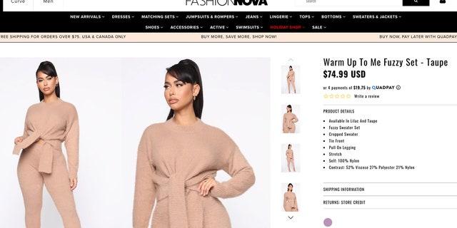 """Fashion nova steals from everyone else,"" a Twitter user said. (Photo: Fashion Nova)"