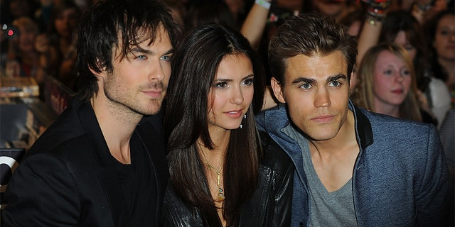 Ian Somerhalder, Nina Dobrev and Paul Wesley attend a fan meet and greet for the cast of 'The Vampire Diaries' at HMV, Oxford Street on June 3, 2010 in London, England.